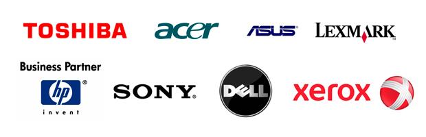 Logotipos de los principales fabricantes de hardware
